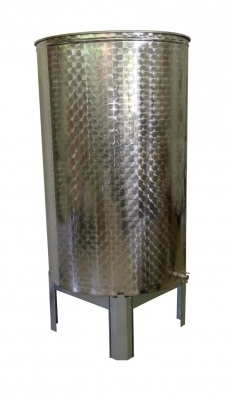 flat bottom stainless steel container 1000 litre