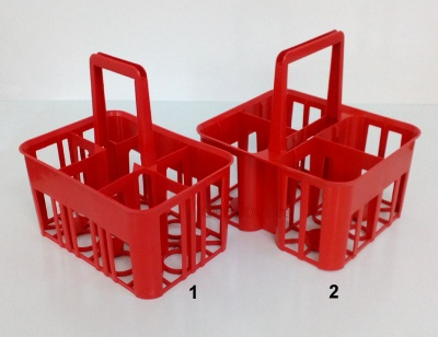 plastic bottle basket 4 and 6 places
